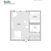 Danesh Residence studio sample floorplan