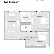 Danesh Residence two-bedroom sample floorplan