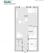 Goldman Residence studio sample floorplan