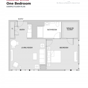 Assisted Living One Bedroom floorplan