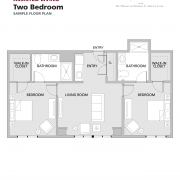 Assisted Living Two Bedroom floor plan