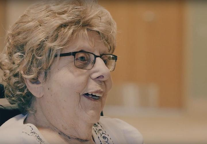 Memory Care Assisted Living resident Minnie enjoys music therapy