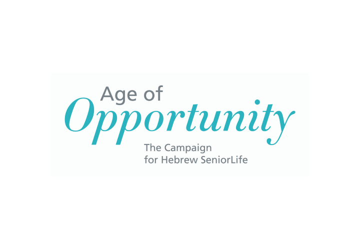 Text graphic that says Age of Opportunity, The Campaign for Hebrew Senior Life.